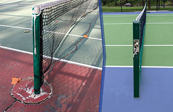 New tennis courts are on the way. Click for more pictures.